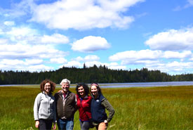 NCC's BC regional staff at Kumdis River Conservation Area (Photo by NCC)