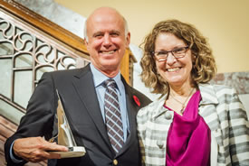 John Lounds and Meg Beckel, president and CEO of the Canadian Museum of Nature (Photo courtesy of the Canadian Museum of Nature)