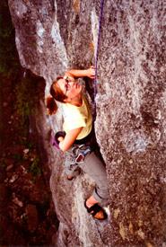 Kathryn Folkl rock climbing (Photo courtesy Kathryn Folkl)