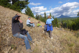 NCC staff exploring Flathead, BC (Photo by NCC)