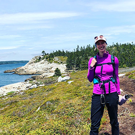 Samantha Stegen, 2021 Summer Intern, Dr. Bill Freedman Nature Reserve, NS (Photo by NCC)