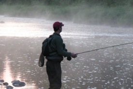 Man fishing in New Brunswick (Photo by NCC)