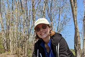 Beth Brooks, Conservation Intern (Photo by NCC)