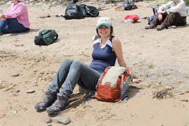Siobhan Darlington at New Horton, NB (Photo by NCC)