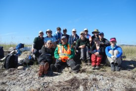 Group of Conservation Volunteers who joined NCC at Sandy Point Island, NL (Photo by NCC)