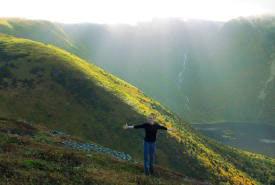Megan Lafferty enjoying the views of Newfoundland and Labrador (Photo by NCC)