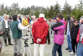 Dr. Bill Freedman, former national board chair at a Conservation Volunteers event, Nova Scotia (Photo by Tamara Mcfarlane)