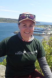 Lee Pominville, conservation intern for Nature Conservancy of Canada in Nova Scotia (Photo by Danielle Horne)