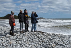 Conservation Volunteers at the plover beach cleanup, NS (Photo by NCC)