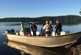 First morning boat loading (Photo by Brian Banks)