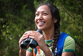 Cheryl Reyes, 2018 conservation intern, Hudgin-Rose Property, Eastern Lake Ontario Coast, ON (Photo by David Coulson)