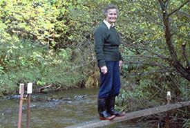 Hazel Bird at the Lawrie Lawson Outdoor Education Centre (Photo by Audrey Wilson)