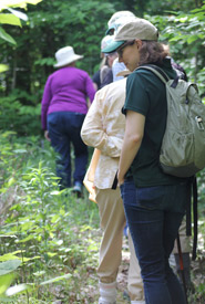 Leaders in Conservation explore the newest trail in the Happy Valley Forest. (Photo by NCC)