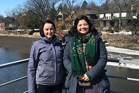 Tessa Strickland (left) and Sofia Becerra make up Ontario all-female GIS team (Photo by NCC)