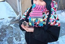 Bird release, Christmas Bird Count 4 Kids, Haldimand County, Ontario (Photo by NCC)