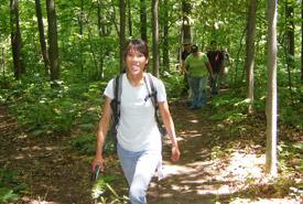 Annette Maher, biologiste adjointe, Sud-Ouest de l'Ontario, Propriété Lathrop, Ontario (Photo de CNC)