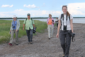 Claire Elliott at a Conservation Volunteers event (Photo by NCC)