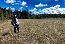 Having the opportunity to do conservation work in my traditional territory is something special. (Photo by NCC)