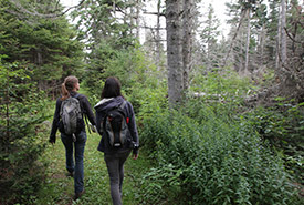 Hikers at pointe Saint-Pierre, QC (Photo by Mike Dembeck)
