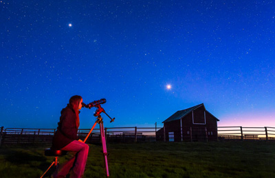 Stargazing at OMB, SK (Photo by NCC)