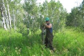 Bénévole pour la conservation, Asquith, Sask. (photo de CNC)