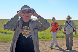 Volunteers check out NCC's Old Man on His Back property. (Photo by Mark Taylor)