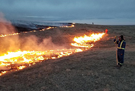 Prescribed burn at OMB (Photo by NCC)